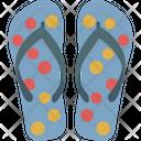Casual Sandal Flipflop Footwear Icon