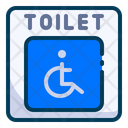 Toilet With Grab Rails Icon