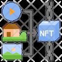 Cryptographic Non Fungible Token Blockchain Icon