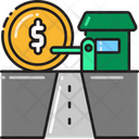 Toll Road Toll Plazatoll Jucntion Icon