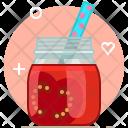 Tomato Smoothie Drink Icon