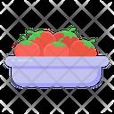 Fresh Tomatoes Tomatoes Bowl Tomatoes Icon