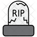 Tombstone Grave Rip Icon