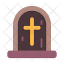 Tombstone Cross Death Icon