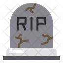 Tombstone Horror Scary Icon
