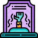 Halloween Ghost Tombstone Icon