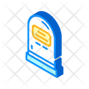 Rip Tombstone Isometric Icon