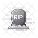 Tombstone Rip Death Icon