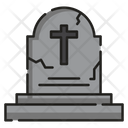 Tombstone Gravecross Halloween Icon