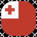 Tonga Flag Circle Icon