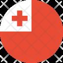 Tonga Flag Country Icon