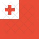 Tonga Flag World Icon