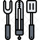 Tongs Spatula Fork Icon