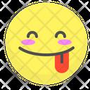Tongue Happy Blushing Icon