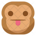 Tongue Taunt Flat Icon
