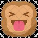Tongue Taunt Monkey Icon
