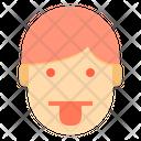 Tongue Emotion Face Icon