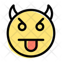 Tongue Face Devil Icon