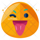 Tongue Out Wink Icon