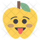 Tongue Out Apple Icon