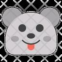 Tongue Out Bear Icon
