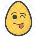 Tongue Out Egg Icon