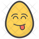 Tongue Out Egg Emoji Emoticon Icon