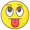 Tongue Out Emoji Crazy Expression Emotag Icon
