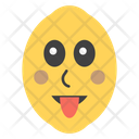 Tongue Out Lemon Icon