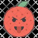 Tongue Out Orange Icon