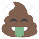 Tongue Out Poop Icon