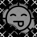 Tongue Smiling Icon