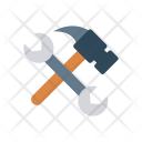 Tool Hammer Wrench Icon