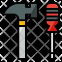 Tool Hammer Construction Icon