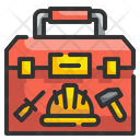 Toolbox Hammer Construction Icon