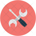 Tools Screwdriver Wrench Icon