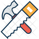 Hammer Saw Tools Icon