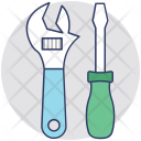Wrench Screwdriver Tools Icon