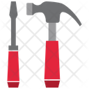 Slotted Screwdriver Hammer Icon