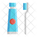 Tootbrush And Toothpaste Icon