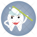 Brushing Dentist Tooth Icon