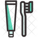 Tooth Brush Tooth Paste Teeth Icon