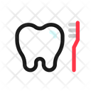 Tooth Cleaning Toothbrush Toiletries Icon