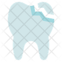 Dental Care Dentist Tooth Crack Icon