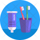 Tooth Hygiene Toothpaste Toothbrush Icon
