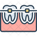 Tooth With Braces Orthodontics Prosthesis Icon