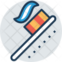 Toothpaste Brushing Dentist Icon