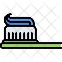 Toothbrush Toothpaste Bathroom Icon