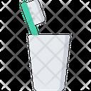 Toothbrush Glass Bathroom Icon