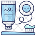 Toothbrush Toothpaste Floss Icon